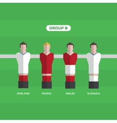 Football players group B vector