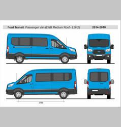 Ford transit passenger van l3h2 2014-2018 vector