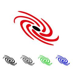 Galactic flat icon vector