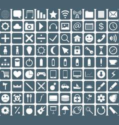 general icon set vector image