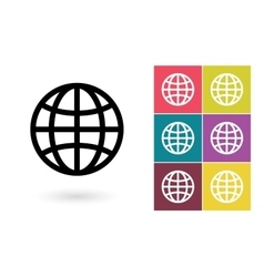globe symbol or pictograph vector image