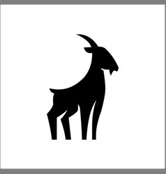 goat silhouette logo template vector image