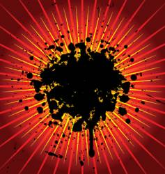grunge explosion vector image