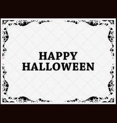 halloween frame october 31st scary branch borders vector image