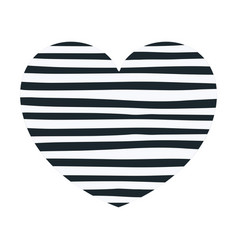 hand drawing dark blue lines in heart shape vector image