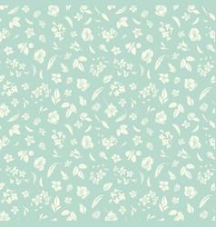 Hand drawn wildflower texture pattern seamless vector