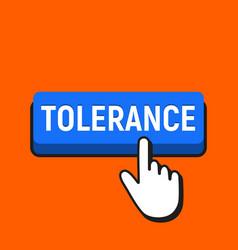 Hand mouse cursor clicks the tolerance button vector