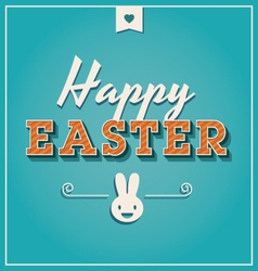 happy easter cards font vintage retro vector image