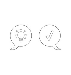 icon concept speech bubbles with glowing light vector image