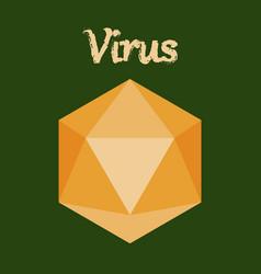 Icon in flat style virus vector