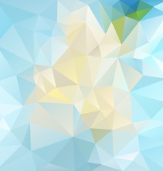 Icy blue abstract polygon triangular pattern vector