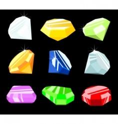 jewels and gemstones vector image
