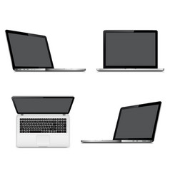 Laptops with perspective top and front view vector
