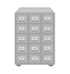 Library catalog icon in monochrome style isolated vector