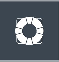 lifebuoy related glyph icon vector image