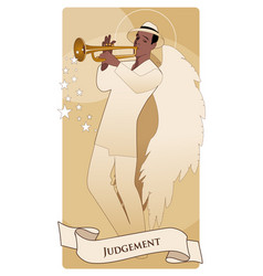 Major arcana tarot cards judgement archangel with vector