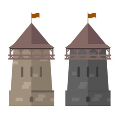 Medieval tower of fortified wall - stronghold vector