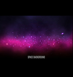 Milky way background pink and purple concept vector