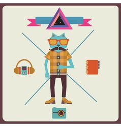 Minimalism concept hipster vector