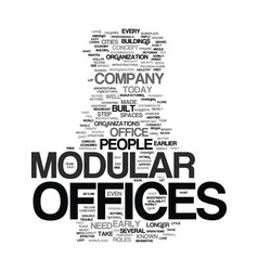 Modular offices text background word cloud concept vector