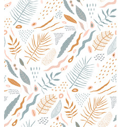 nature abstract seamless pattern design rustic vector image