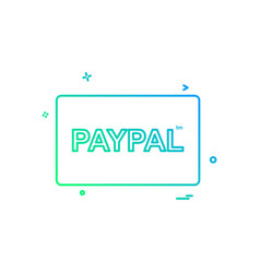 paypal card icon design vector image