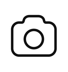 photo camera icon in modern design style for web vector image