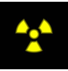 Radiation warning sign vector
