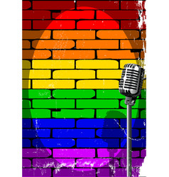 Rainbow musical event poster grunge vector