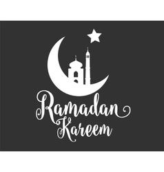 Ramadan Kareem greeting typographic design vector image