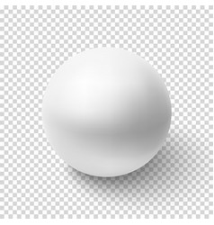 Realistic white sphere isolated on transparent vector image