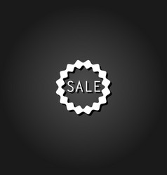 sale badge or sticker icon flat vector image