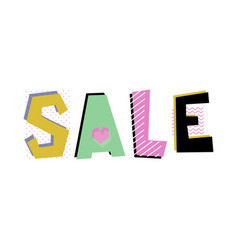 sale lettering vector image