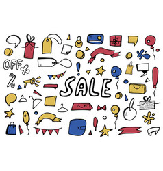 sale objects for promotion vector image