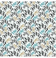 Seashell seamless pattern fashion texture vector