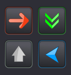 set of black buttons vector image