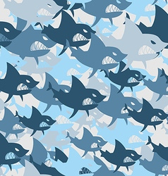 Shark military seamless pattern Army background of vector