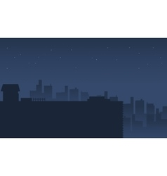 Silhouette of city scenery vector