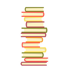 stack books on a white background pile of vector image