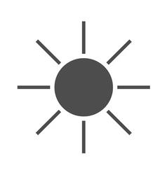 Sun icon black Symbol sunrise vector image