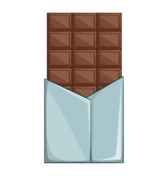 Swiss chocolate icon cartoon style vector