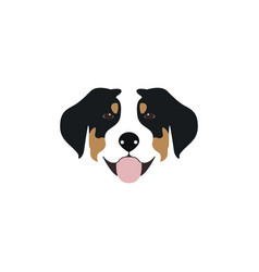 Swiss mountain dog head vector