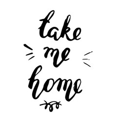 take me home postcard vector image vector image