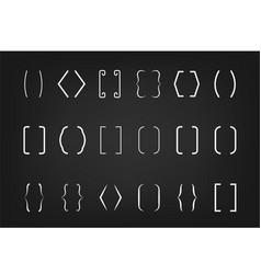 text bracket set vector image