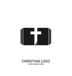 The bible the cross and the steps leading to god vector