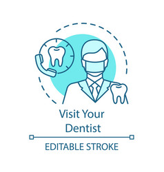 Visit your dentist concept icon vector