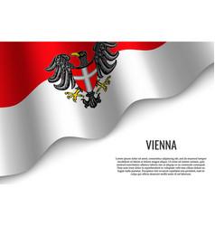 waving flag of region austria vector image