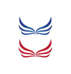 wing falcon logo template vector image