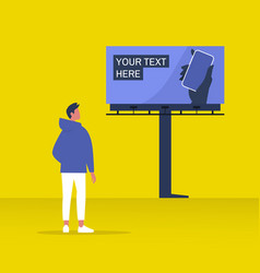 your text here mockup new online service outdoor vector image