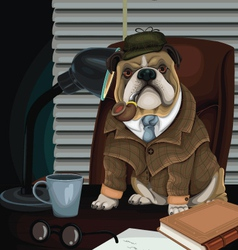 Bulldog Detective vector image